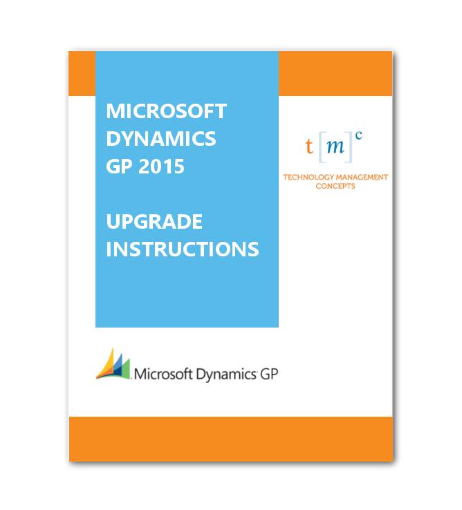GP 2015 Upgrade Instructions