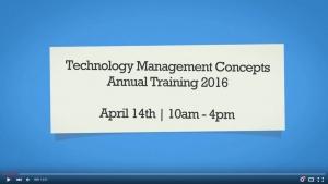 TMC Annual Training agenda image
