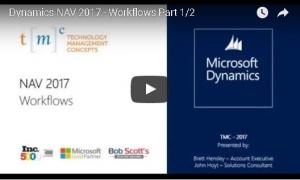 video transcript Dynamics NAV 2017 workflow part 1