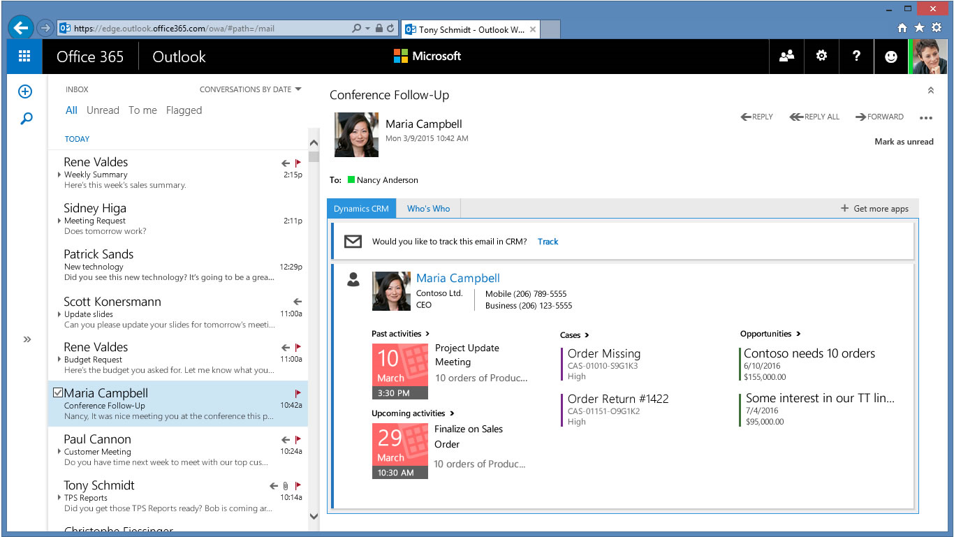 Microsoft Dynamics CRM Office 365