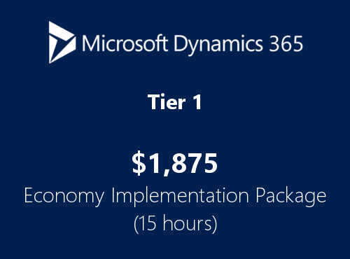 Tier1 Dynamics365 economy implementation