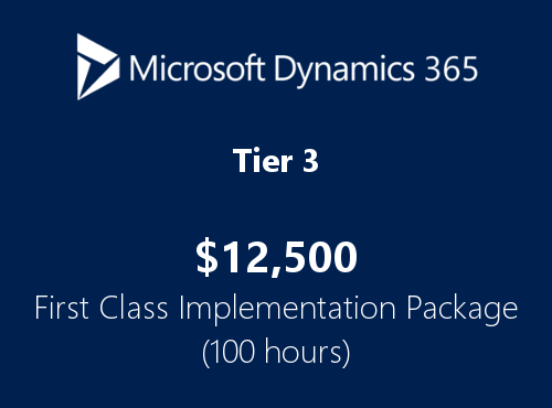 Tier3 Dynamics365 first class implementation