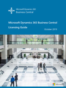 TMC ERP Partner 2019 Dynamics 365 Business Central Licensing Guide Oct 2019