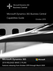 TMC ERP Partner 2019 Release Wave 2 - Dynamics 365 Business Central - Release Overview Guide v2019