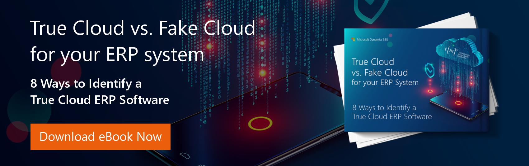 Eight Ways to Identify True Cloud ERP Software