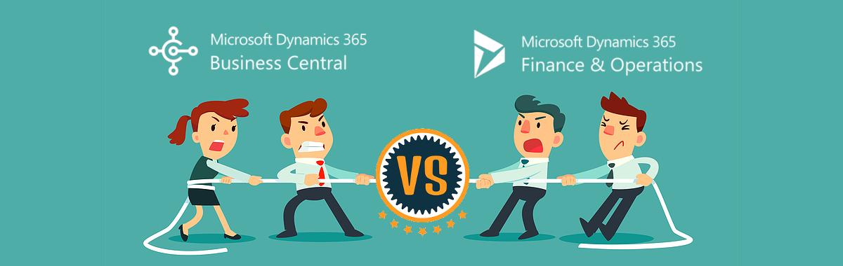 Microsoft Dynamics 365 vs Dynamics 365 Business Central banner