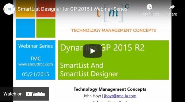 SmartList Designer for Dynamics GP