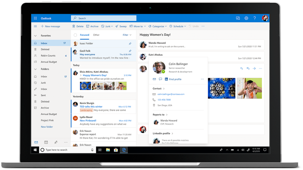 Microsoft 365 business Email and Calendar